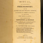 1835 1ed Ritual Freemasonry SECRETS William Morgan Murder Masonic Allyn