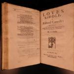 1678 FOLIO Abraham Cowley Six Books of Plants Herbs Coca Flowers English Odes 2v