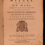 1775 1ed Diocese of Le Mans France Catholic Liturgy Chant Music Rituals Prayers