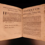 1715 Domenico Viva Damnatorum Thesium Catholic Heresy Bulls Pope Alexander VII