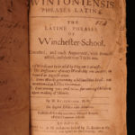 1673 Scholae Wintoniensis Latin Phrases Grammar Winchester College Linguistics