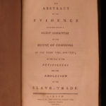 1791 1ed William Wilberforce Slavery Abstract Britain AFRICA Colonial SLAVES
