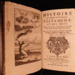 1725 Jewish History Calmet JEWS + Bible Commentary Holy Land MAPS Jerusalem