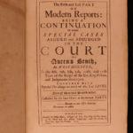 1703 English LAW Cases Modern Reports IRELAND England Charles II 5v FOLIOS