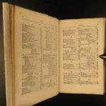 1839 NEW YORK City History Folding MAP American Commerce Brooklyn Manhattan