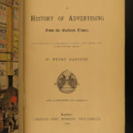 1874 History of Advertising & Marketing Illustrated Medieval Street Signs Hoaxes