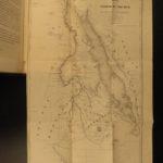 1854 1ed Journey to Central Africa EGYPT Sudan Ethiopia MAP Nile Bayard Taylor