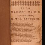 1668 Poems of Thomas Randolph English Literature Muses Looking-Glass Amyntas