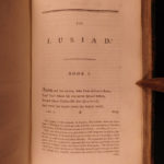 1791 The Lusiad de Camoes Portuguese Voyages & Exploration Portugal MAP English