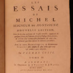 1724 French Essays of Michel Montaigne France Renaissance Philosophy Humanism