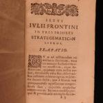 1650 1ed Military Strategy Sextus Frontinus Ancient ROME Strategematum War