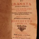 1684 The Conquest of Granada Poem by Girolamo Graziani Italian SPAIN Venice