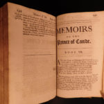 1693 1ed Life Louis of Bourbon Prince of Conde Huguenot v Catholic France Coste