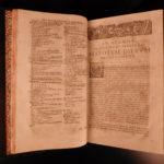 1674 HUGE FOLIO Hospinian De Festis Jewish Roman Greek Turkish Indians Rituals