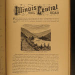 1879 Railway Guide RAILROAD Tourists COLORADO Chicago Illinois Illustrated MAPS