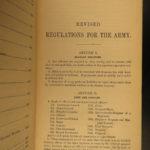 1861 1ed GENERAL GRANT HQ Presentation! Army Regulations Civil War Union Soldier