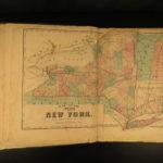 1873 ATLAS Steuben County New York ENORMOUS Color City MAPS Corning Prattsburgh