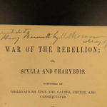 1866 1ed War of Rebellion Civil War Confederate Congress Slavery Henry Foote