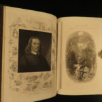 1873 EXQUISITE John Bunyan Illustrated Pilgrims Progress Mr Badman BINDING