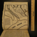 1833 American Antiquities Priest Trail of Tears Indians Mormons Cannibal MAP