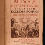 1694 Missa Defunctorum Catholic Church Requiem MASS Latin Prayers Antwerp