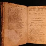 1794 Early American POCKET Bible Psalms & Hymns Isaac Watts Joel Barlow RARE