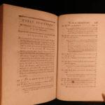 1790 Works of Helvetius De L'Homme Metaphysics Philosophy Nature vs Nurture 5v