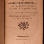 1769 Physics Experiments Dutch Musschenbroek Isaac NEWTON Magnetism Science 3v