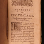 1686 1ed Huguenot Persecution Jean Claude French Protestants Wars of Religion