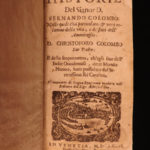 1676 History of Christopher Columbus by his son Ferdinand VOYAGES America Spain