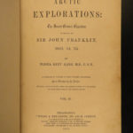 1856 1st ed Elisha Kane Arctic Explorations Voyages Franklin Expedition Map 2v