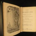 1861 CEYLON Natural History Sri Lanka Monkeys Elephant Illustrated Asia Tennent