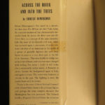 1950 1ed/1st Hemingway Across the River and Into the Trees Ernest World War I