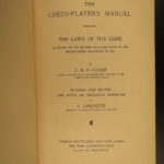 1888 1ed Chess Players Manual Strategy Game Checkmate Lipschutz George Gossip
