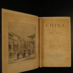 1882 1ed CHINA Folklore Douglas Alchemy Buddhism Confucius Illustrated COLOR MAP