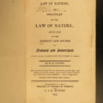 1805 1ed Vattel US Law of Nations Diplomacy War George Washington & Ben Franklin