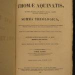 1860 Saint Thomas AQUINAS Summa Theologica Medieval Philosophy Catholic 4v SET