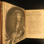 1668 History of FRANCE Mezeray Clovis Pharamond Legends St Louis IX Portraits 3v