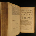 1668 1ed John Owen Puritan Bible & Commentary Book of Hebrews Ireland Provenance