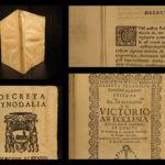 1681 Synod of Diocese of Alba ITALY Decrees Catholic Church Turin Saluzzo