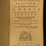 1730 John Allen Practical Medicine Synopsis Disease Cures Treatments Amsterdam