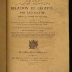 1810 1ed History of EGYPT Abdallatif Arabic Egyptian Alchemy Mythology Medicine
