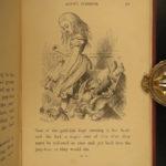 1872 1ed Alice Wonderland + Through the Looking Glass Carrol Tenniel Jabberwocky