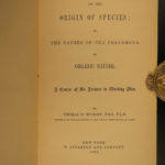 1889 Thomas Huxley Origin of Species EVOLUTION Essays Darwin Philosophy Science
