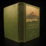1916 1st ed John Muir Thousand Mile Walk Gulf Mountain Color Illustrated MAP