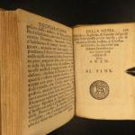 1611 TINY Miniature Catholic Devotional Italian Bible Woodcuts Boscarini Venice