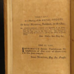 1749 Isaac NEWTON & Martyn Philosophical Transactions Physics Optics Science