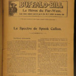 1910 Stories of Buffalo Bill Cody Wild West Americana Texas INDIANS French 9v