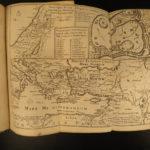 1701 Vulgate BIBLE New Testament Gospel of Jesus Holy Land MAP Jerusalem 2v SET