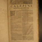 1656 FAMOUS Calepino Dictionary 9 Language Lexicon Gallic Hebrew Greek ENGLISH +